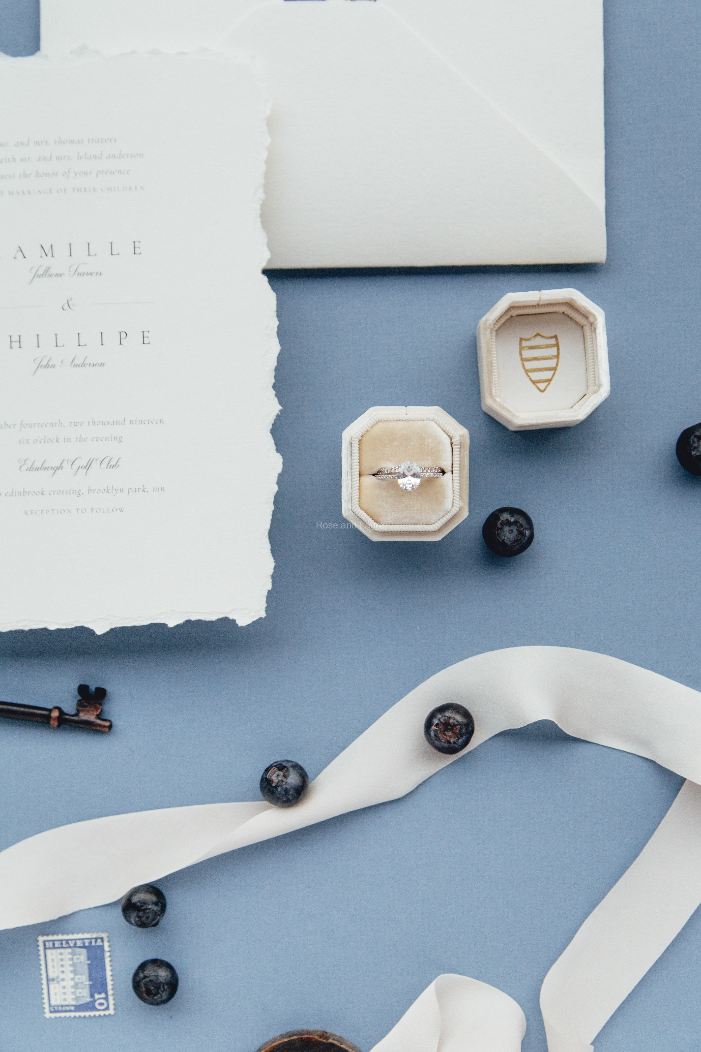 mrs-box-flatlay-styling-blue-wedding-ideas-invitation-ideas-european-wedding-ideas-minnesota-wedding-florist-rose-and-laurel