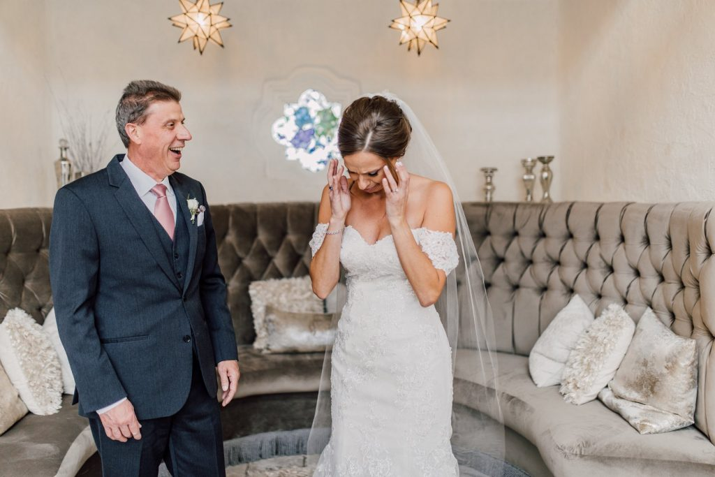 bride-crying-when-she-sees-her-dad-in-the-bridal-suite-at-bavaria-downs